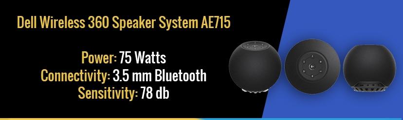 Dell Wireless 360 Speaker System AE715